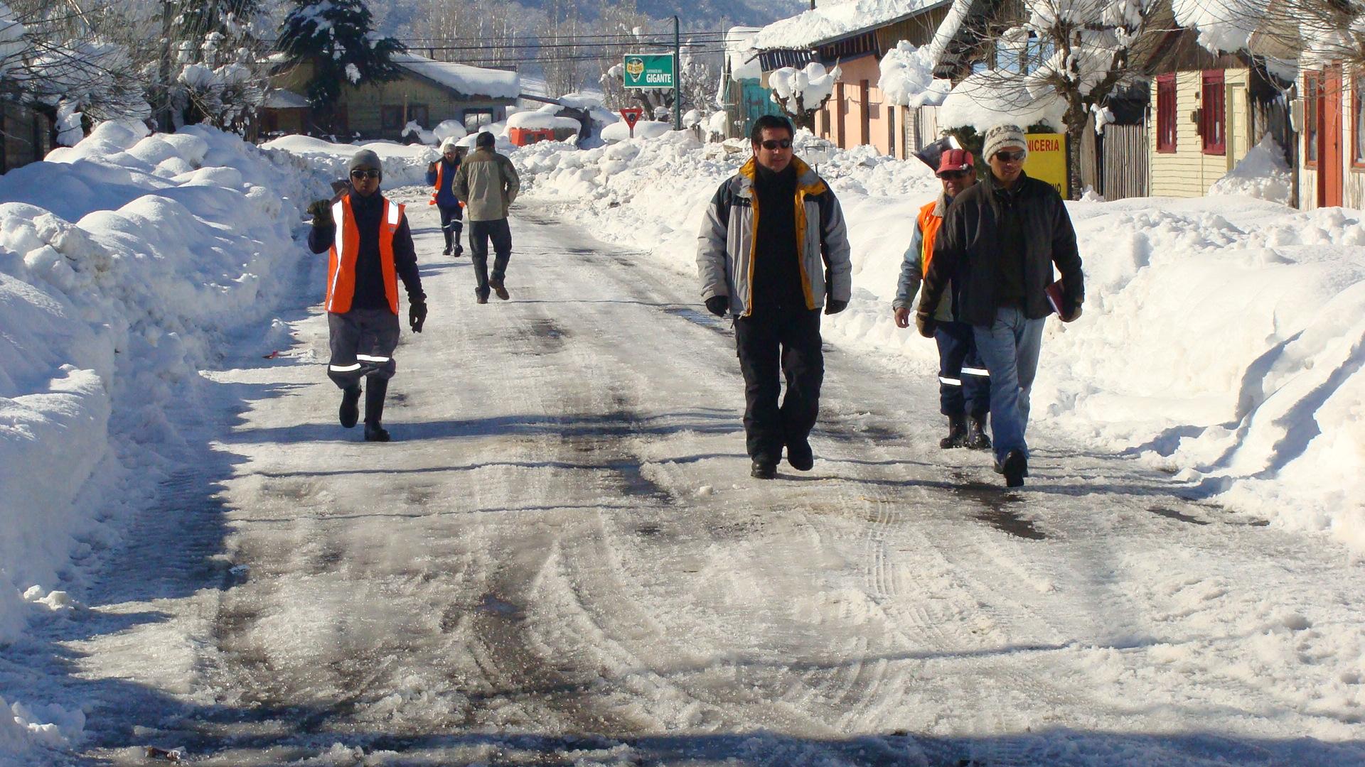 Terremoto blanco lonquimay bajo la nieve la opi for Blanco nieve