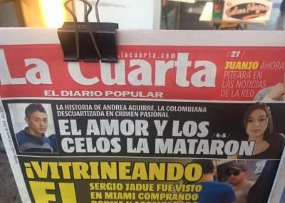 Desafortunada portada de La Cuarta sobre asesinato de colombiana en ...